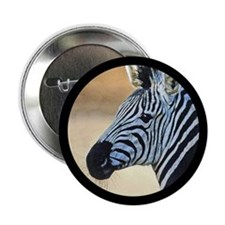 Zebra Portrait Button