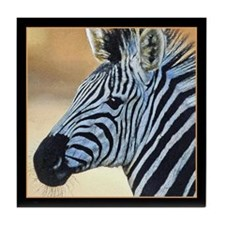 Zebra Portrait Tile Coaster