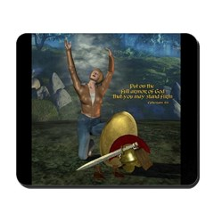 Soldier of the Lord (Woman) Mousepad