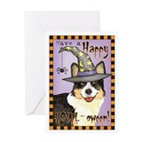 Halloween Corgi Greeting Card