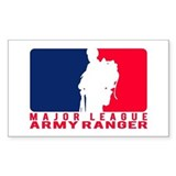 Major League Army Ranger Rectangle Decal