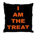 I AM THE TREAT (BLK) Throw Pillow