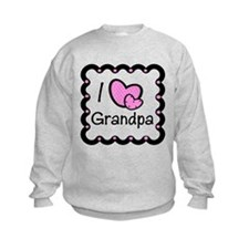 I Love Grandpa Pink Hearts Sweatshirt