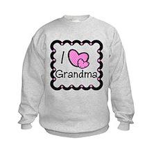 I Love Grandma Pink Hearts Sweatshirt