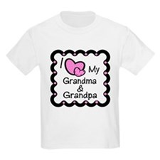 I Love Grandpa & Grandma T-Shirt