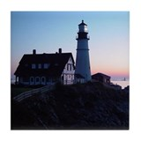 Portland Headlight Daybreak Tile Coaster