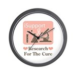 Support Breast Cancer Research Wall Clock