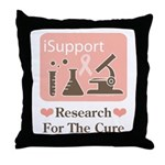 Support Breast Cancer Research Throw Pillow