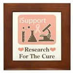 Support Breast Cancer Research Framed Tile