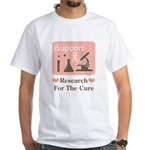 Support Breast Cancer Research White T-Shirt