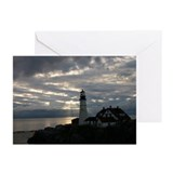 Portland Headlight Greeting Cards (Pk of 10)
