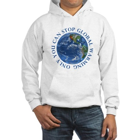 Stop Global Warming Ecology Hooded Sweatshirt
