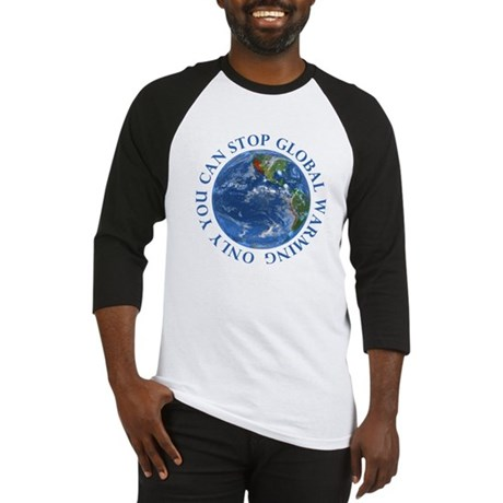 Stop Global Warming Ecology Baseball Jersey