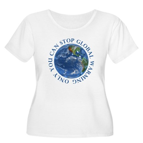 Stop Global Warming Ecology Women's Plus Size Scoo