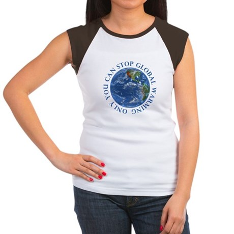 Stop Global Warming Ecology Women's Cap Sleeve T-S