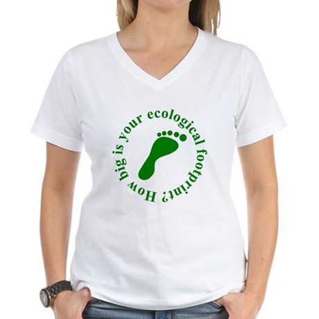 Ecological Footprint Ecology Women's V-Neck T-Shir