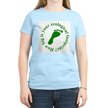 Ecological Footprint Ecology Women's Light T-Shirt