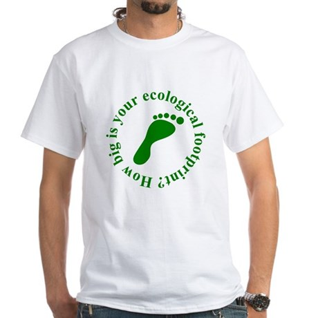Ecological Footprint Ecology White T-Shirt