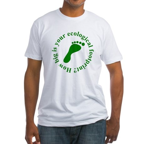 Ecological Footprint Ecology Fitted T-Shirt