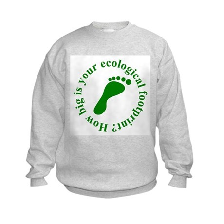 Ecological Footprint Ecology Kids Sweatshirt