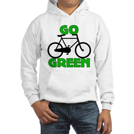 Go Green Bicycle Ecology Hooded Sweatshirt