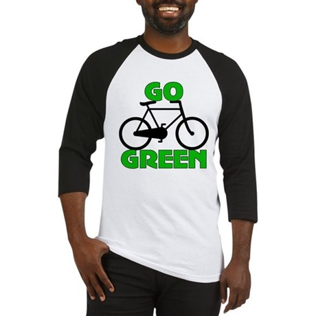 Go Green Bicycle Ecology Baseball Jersey