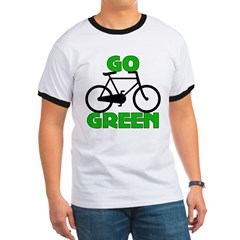 Go Green Bicycle Ecology Ringer T