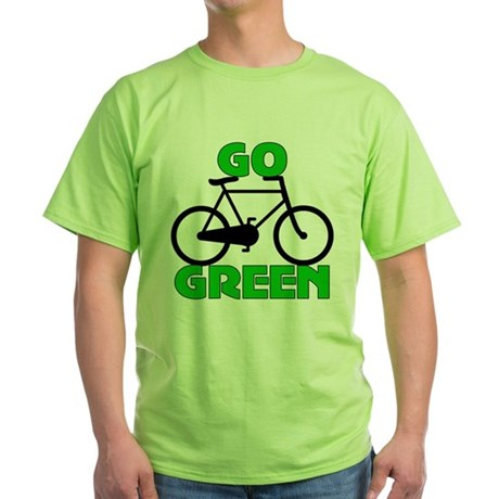 Go Green Bicycle Ecology Green T-Shirt