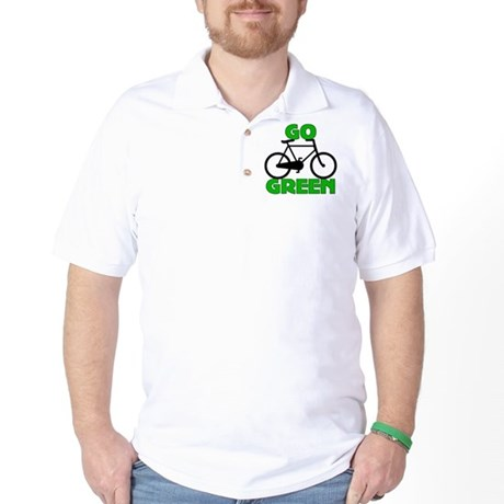 Go Green Bicycle Ecology Golf Shirt