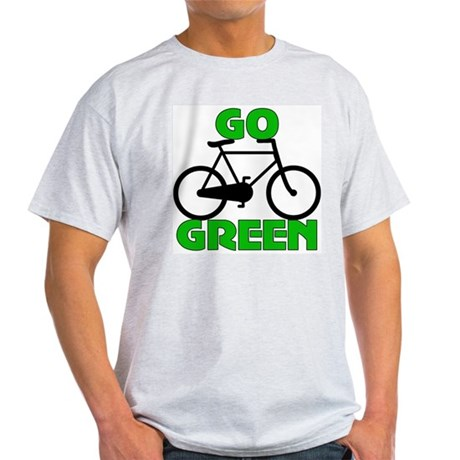 Go Green Bicycle Ecology Light T-Shirt