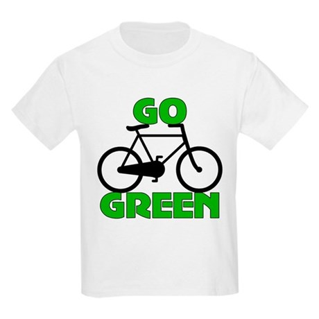 Go Green Bicycle Ecology Kids Light T-Shirt