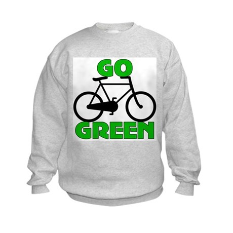 Go Green Bicycle Ecology Kids Sweatshirt