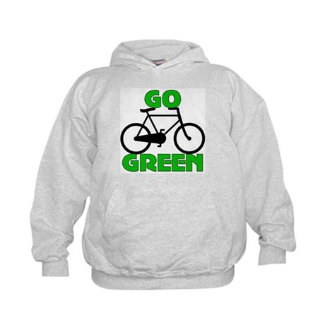 Go Green Bicycle Ecology Kids Hoodie