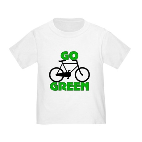 Go Green Bicycle Ecology Toddler T-Shirt