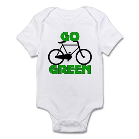 Go Green Bicycle Ecology Infant Bodysuit