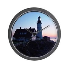 Portland Headlight Daybreak Wall Clock