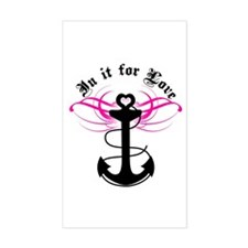 Navy: In It For Love Rectangle Decal