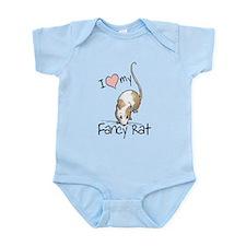 I Love My Fancy Rat Infant Bodysuit