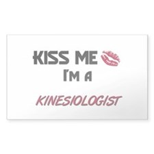 Kiss Me I'm a KINESIOLOGIST Rectangle Decal