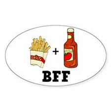 Ketchup & French Fries BFF Oval Decal