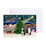 XmasMagic/2 Aussies (P2) Greeting Cards (Pk of 20)