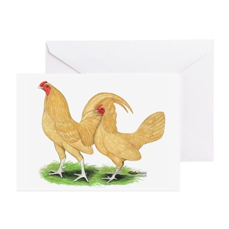 Buff Old English Bantams Greeting Cards (Pk of 10)