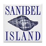 Sanibel Island Shell -  Tile Coaster
