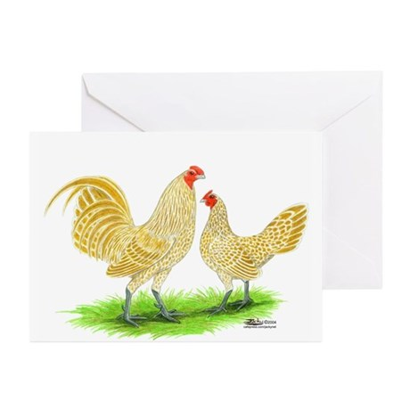 Buff Laced OE Bantams Greeting Cards (Pk of 10)