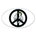 Peace & Doves Oval Sticker