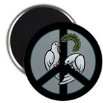 Peace & Doves Magnet