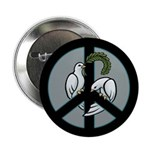 Peace & Doves Button