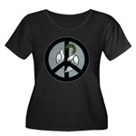 Peace & Doves Women's Plus Size Scoop Neck Dark T-