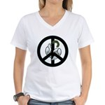 Peace & Doves Women's V-Neck T-Shirt