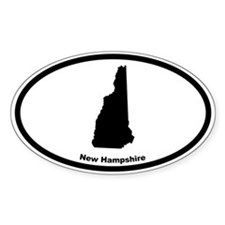 New Hampshire State Outline Oval Decal